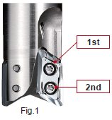 Procedure for attaching inserts